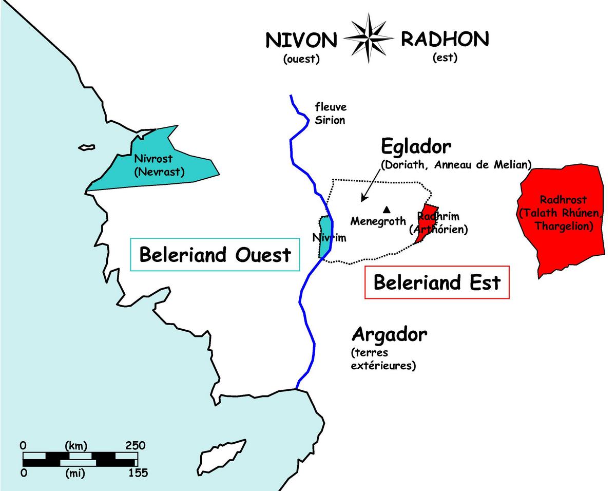 Figure 9. Le Beleriand vu de Doriath.